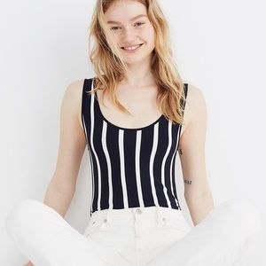 [ nwt ] Madewell Striped Scoopback Bodysuit
